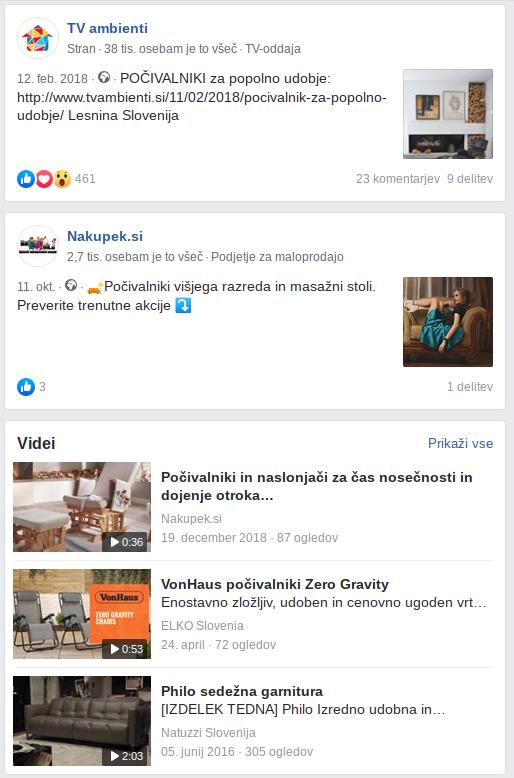facebook oglaševanje počivalniki